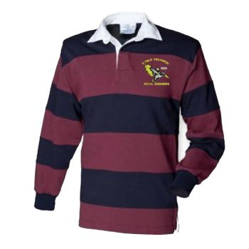 11 Fld Sqn Embroidered Two Tone Rugby Shirt
